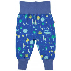 Piccalilly Unisex Blue Farm Themed Pull-Up Trousers