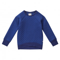 Piccalilly Kids Navy Blue Quilted Sweatshirt