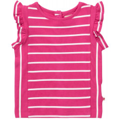 Piccalilly Pink Stripe Girls Vest Top