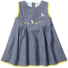 Chambray Baby Dress - Tropical