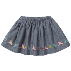 Piccalilly Blue Denim Girls Skirt