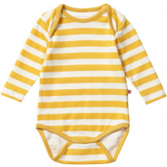 Piccalilly Yellow Stripe Unisex Baby Bodysuit