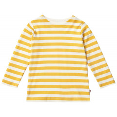 Piccalilly Unisex Organic Cotton Yellow Mustard Long Sleeve Top