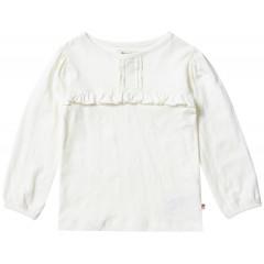 Piccalilly Girls Long Sleeve Cream Slub Top