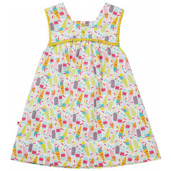 Piccalilly Sleeveless Girls Organic Summer Dress