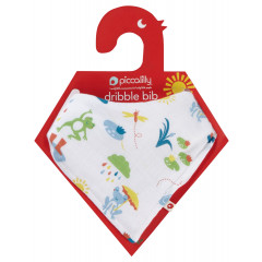 Piccalilly Muslin Baby Bib and Burp Cloth