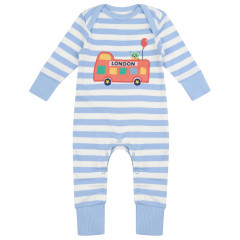 Piccalilly London Bus Baby Sleepsuit