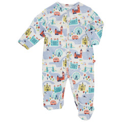 Piccalilly London Theme Sleepsuit for Baby