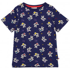 Piccalilly Navy Blue Astronaut T-Shirt