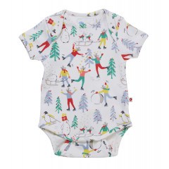 Piccalilly Baby's First Christmas Bodysuit