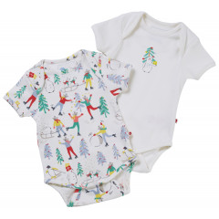 Baby's First Christmas - 2 Pack of Baby Bodysuits