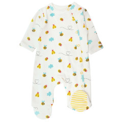 Wrapover Footed Sleepsuit - Bumblebee