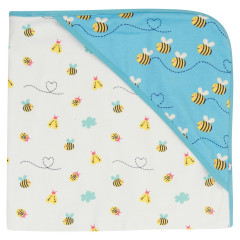 Piccalilly Bumble Bee Print Baby Blanket