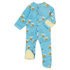 Piccalilly Bee Baby Sleepsuit