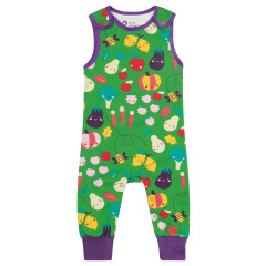 Piccalilly Green Grow Your Own Kids Dungarees