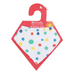2-in-1 Muslin Bandana Bib & Burp Cloth - Spotty