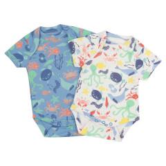 2 Pack Baby Bodysuits - Underwater