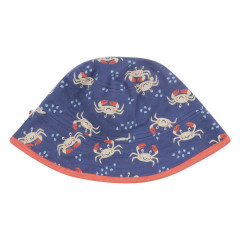 Piccalilly Ocean Crab Reversible Kids Sun Hat