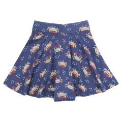 Piccalilly Blue Ocean Crab Skater Skirt