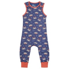 Piccalilly Ocean Crab Baby Dungarees
