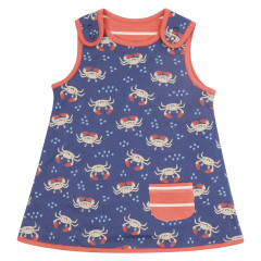 Piccalilly Reversible Blue Ocean Crab Dress