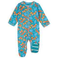 Piccalilly Fox Baby Sleepsuit