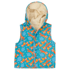 Piccalilly Fleece Fox Gilet for Kids