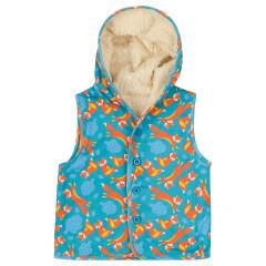 Piccalilly Fleece Fox Gilet for Kids