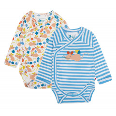 Piccalilly 2 Pack Fieldmouse Baby Bodysuits