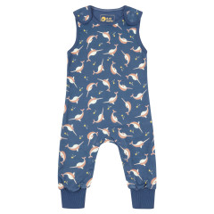 Piccalilly Narwhal Jersey Dungarees for Kids