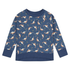 Piccalilly Kids Narwhal Sweatshirt
