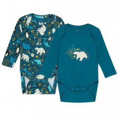 Piccalilly 2 Pack Arctic Bodysuits for Baby