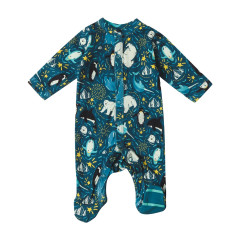 Piccalilly Arctic Baby Sleepsuit