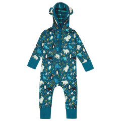 Piccalilly Arctic Hooded Baby Onesie
