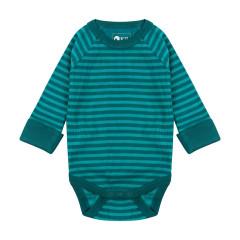 Piccalilly Blue Rib Baby Bodysuit