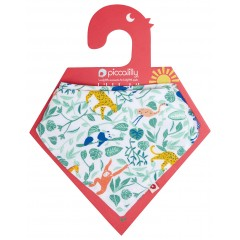 Muslin Bandana Bib & Burp Cloth - Animal Adventure
