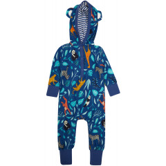 Hooded Playsuit - Wildlife