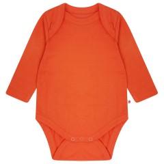Building Block Long Sleeve Baby Body - Nasturtium