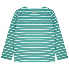 Building Block Long Sleeve Top - Aqua Green