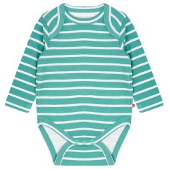 Building Block Long Sleeve Baby Body - Aqua Green