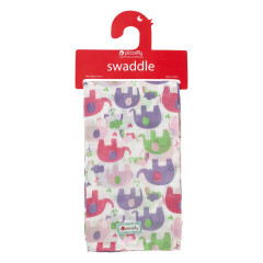 Muslin Swaddle - Pink Elephant