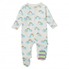 Piccalilly Rainbow Footed Baby Sleepsuit