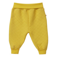 Piccalilly Mustard Yellow Quilted Baby Trousers