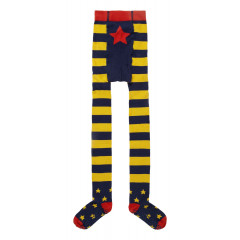 Piccalilly Stripe Tights - Blue & Yellow