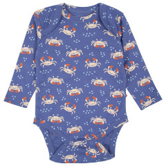 Upcyled Baby Bodysuit - Ocean Crab