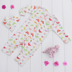 Piccalilly Floral Dinosaur Romper And Toy Set