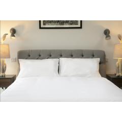 Piccalilly Plain White Organic Duvet Cover