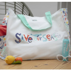 Piccalilly Save Our Seas Canvas Tote Shopper