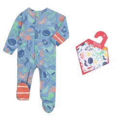 Save Our Seas Sleepsuit & Muslin Bandana Set