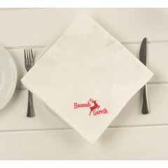 Personalised Family Dinner Table Napkin Set Pack of Two